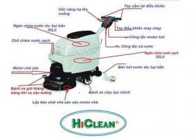 Hướng dẫn các bước vận hành máy chà sàn liên hợp